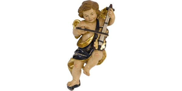 Putto with music instrument