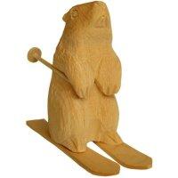 Marmot on ski