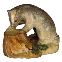 Badger with hare - Color - 1,6 inch