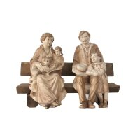 Family on bench with children