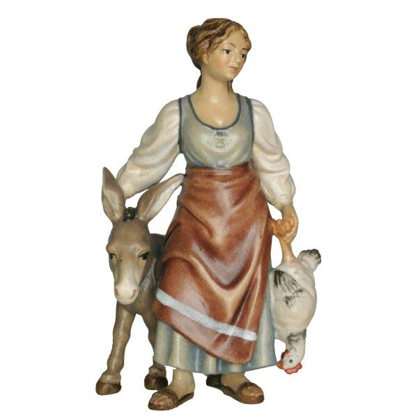 Frau mit Esel o.S.