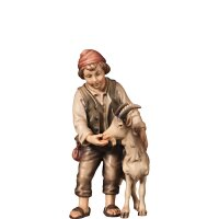 H-Shepherd-boy with goat - colored - 3,94 inch