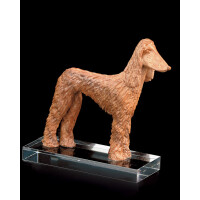 Afghan greyhound (with pedestal)