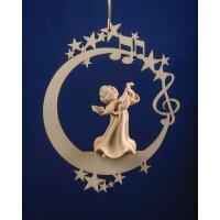Angel with mandolin on the moon &.stars