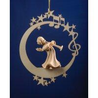 Angel with flourish on the moon &.stars
