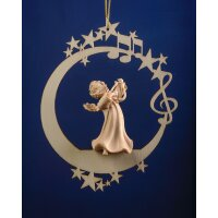 Angel with lyra on the moon &.stars
