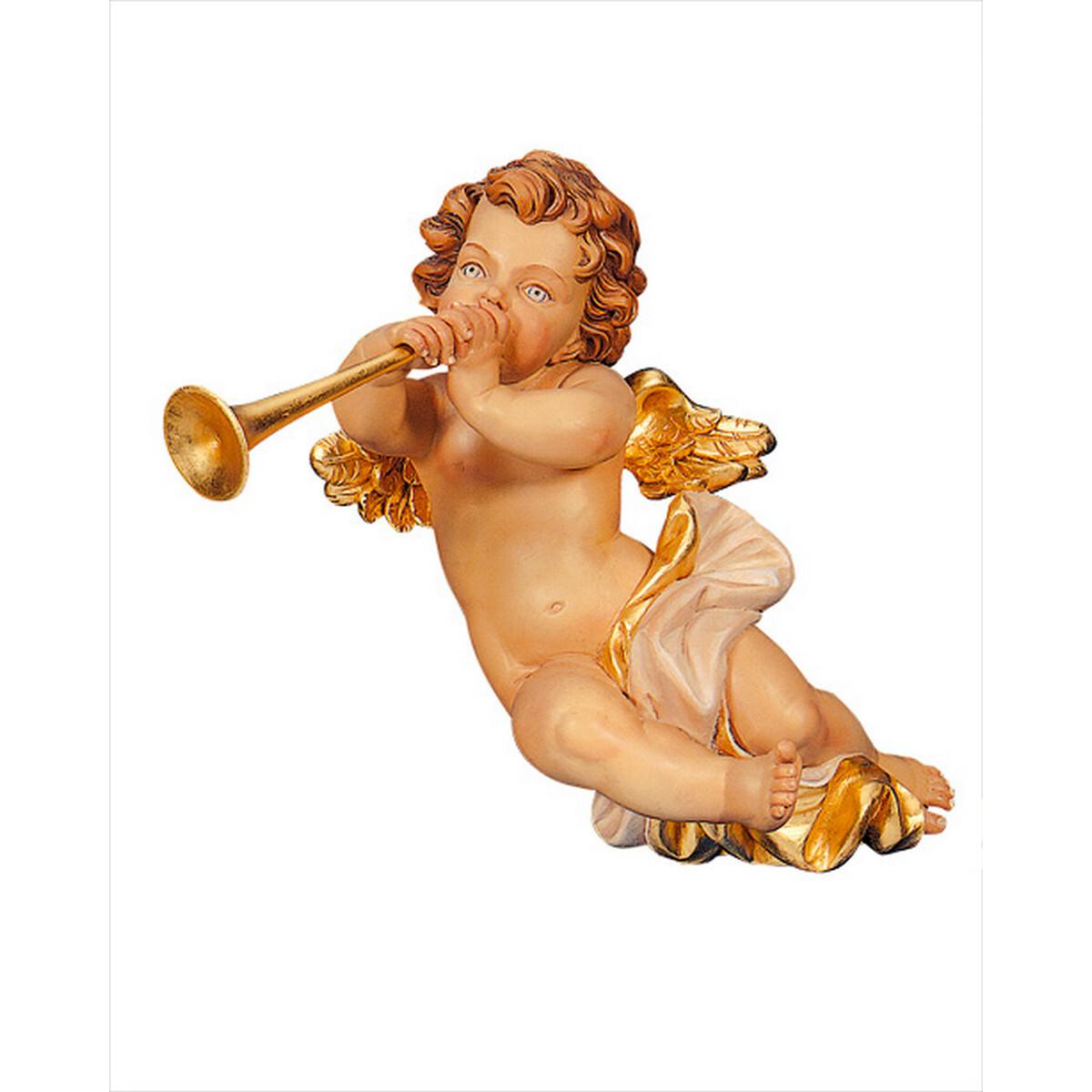 engel mit trompete antik mit echtgoldauflage oa 56. Black Bedroom Furniture Sets. Home Design Ideas