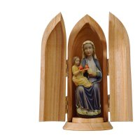 Our Lady of Mariazell sitting in niche