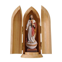 Sacred Heart of Jesus with host in niche