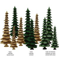 Fir tree - colored - 8 inch