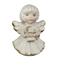 Angel with calyx - natural with cristal - 2 inch