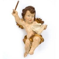Angel conductor - color carved - 18 inch
