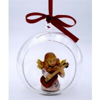 Angel with guitar in glass ball