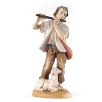 Pastore con flauto - colorato - 20 cm