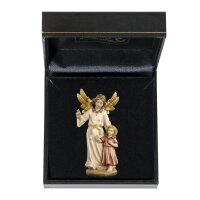 Guardian angel with girl with case  colored