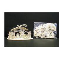 Laser crib Alpina 15 pcs - natural wood - 3 inch