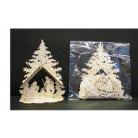 Laser crib tree - natural wood - 3,5 inch