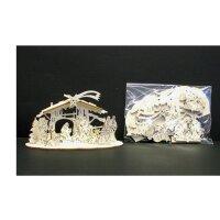 Laser crib Alpina 15 pcs - natural wood - 3,5 inch