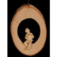 Akkordeonspieler auf Astscheibe - Baumbehang