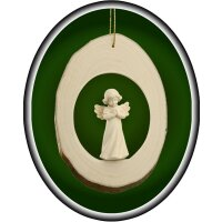 Branch disc with Mary Angel praying