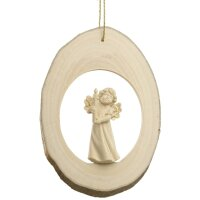 Branch disc with Mary Angel candle