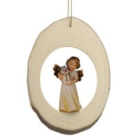 Branch disc with Mary Angel Snowman