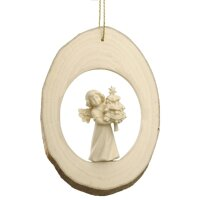 Branch disc with Mary Angel and Fir tree