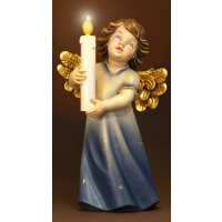 Mary angel with candle and illumination
