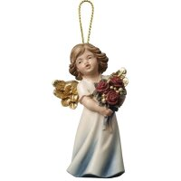 Mary Angel with roses