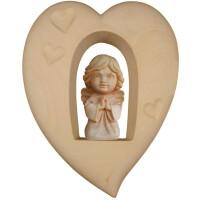 Guardian Angel in heart in wood