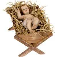Jesuskind mit Wiege (gebeizt)