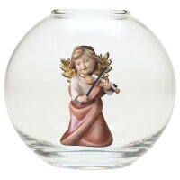 Heart Angel with violine - Glass sphere