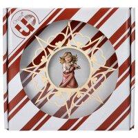 Herzengel mit Geige - Herz Stern + Geschenkbox