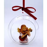 Angel with guitar in glass ball color 2
