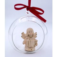 """Angel with accordion in glass ball gold board 2"""""""