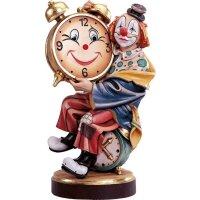 Clown mit bemalter Uhr