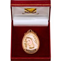 Medaillon Büste Lourdes mit Schatulle
