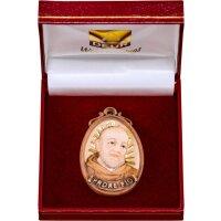Medaillon Padre Pio mit Schatulle