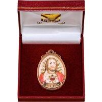 Medaillon Herz Jesu mit Schatulle