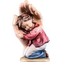 Schützende Hand stehend mit Junge