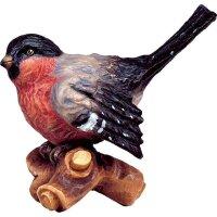 Vogel auf Ast rot
