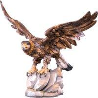 Adler mit offenen Flügeln