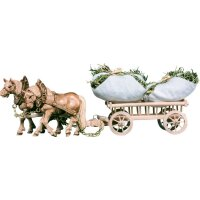 2 Draw-horses with haycart