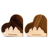 Herz Dolomites mit Drei Zinnen