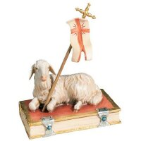 Easter lamb - color - 8 inch