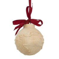 christmas tree ball with deer running - color - 4,7 inch