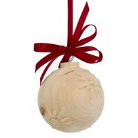 christmas tree ball edelweiss - natural with cristal -...