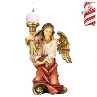 Chorus angel with candle left side + Gift box