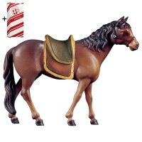 Horse brown with saddle + Gift box