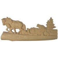 Horses with lumber